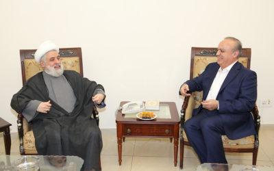 زيارة الوزير وهاب الى الشيخ نعيم قاسم