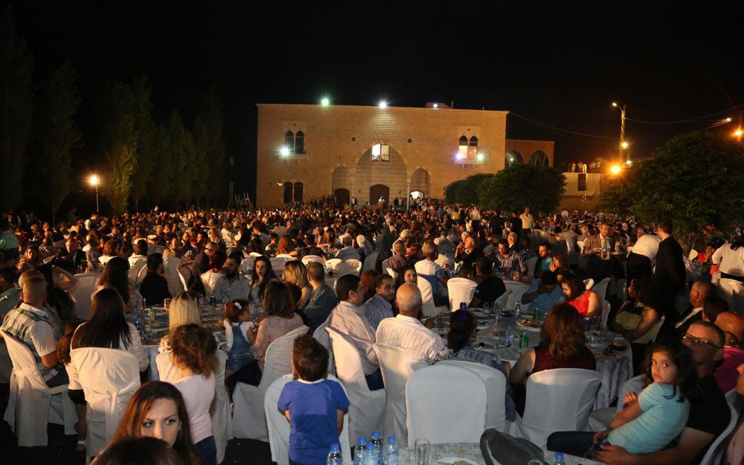 وهاب شارك في الإفطار التكريمي بمناسبة الذكرى الثانية عشر لتأسيس الحزب