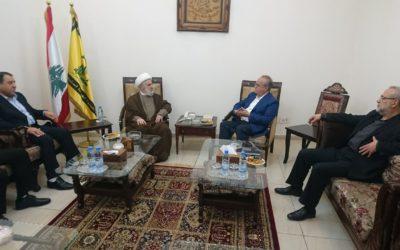 """وهاب بعد زيارته الشيخ نعيم قاسم: """" أننا جزء من المقاومة في أي مرحلة أو مواجهة مقبلة"""""""