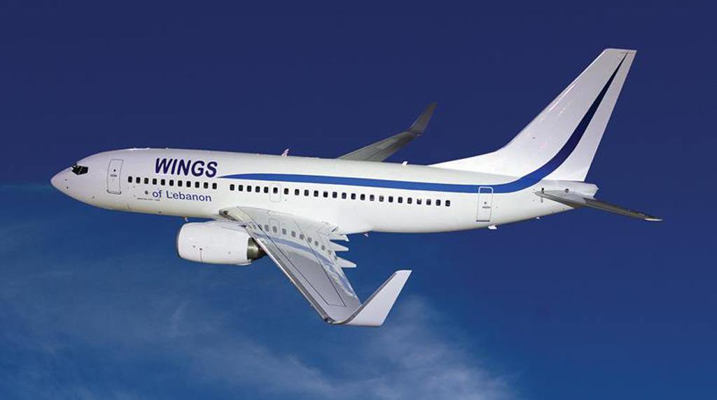 وينغز أوف ليبانون تتسلم طائرتها الجديدة 737700 NGBoeing