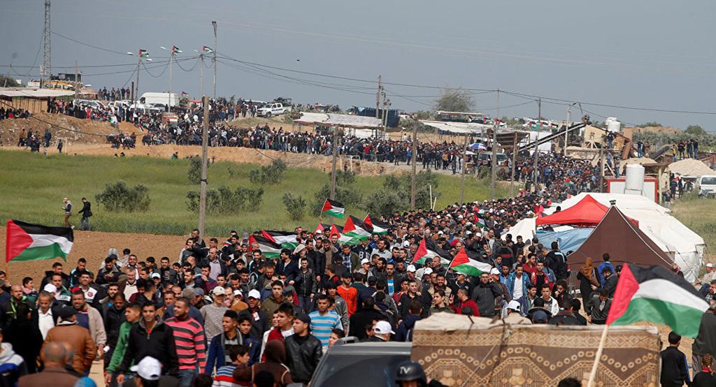 """"""" مليونية القدس"""" استكمالاً لمسيرات العودة وكسر حصار الشعب الفلسطيني"""