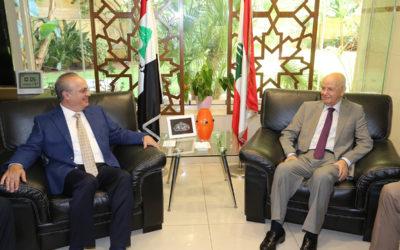 وهاب زار الوزير مراد مهنئاً بفوزه بالإنتخابات النيابية: البلد قادم على مرحلة صعبة