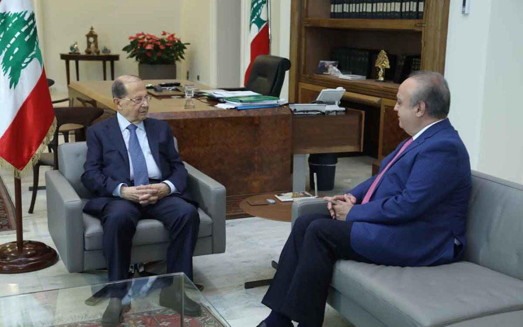 وهاب زار الرئيس عون وعرض معه الأوضاع في الجبل