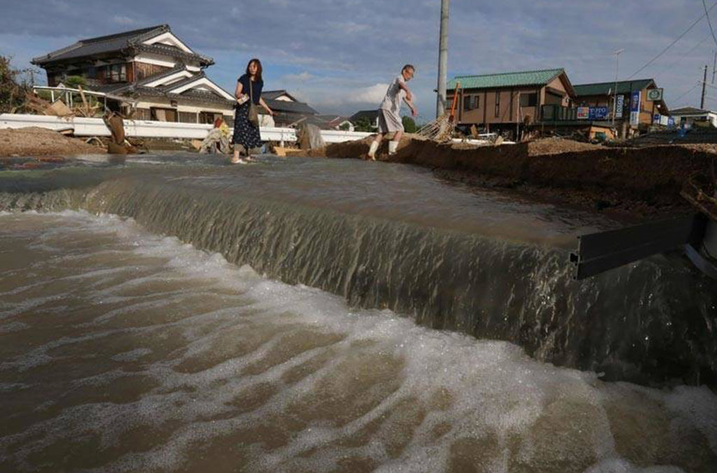 ارتفاع جديد في محصلة ضحايا الأمطار والسيول في اليابان