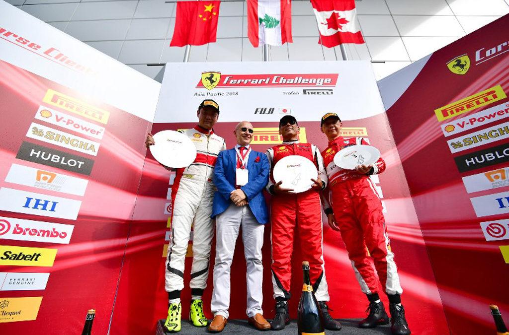 نتائج لافتة للسائق تاني حنا في سباق تحدي فيراري باليابان