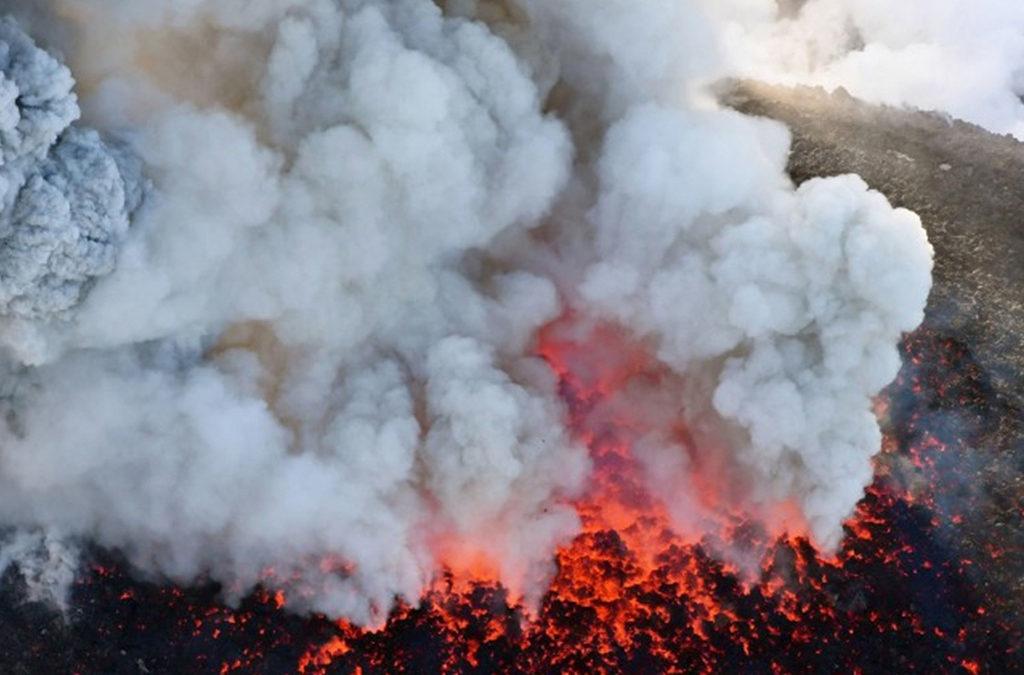 ثوران بركان في اليابان