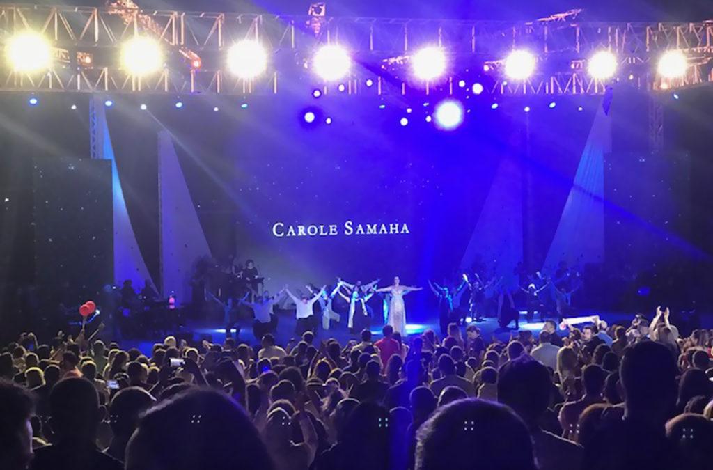 كارول سماحة افتتحت مهرجانات صيدا السياحية وكلمات اكدت ان المدينة تستحق أن تكون في المرتبة الاولى بين المدن اللبنانية