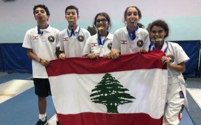 ذهبيتان للبنان في بطولة العرب للمبارزة للفئات العمرية في الاردن