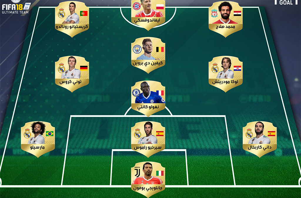 تعرفوا على تشكيل فيفا لأفضل 11 لاعبًا في 2018