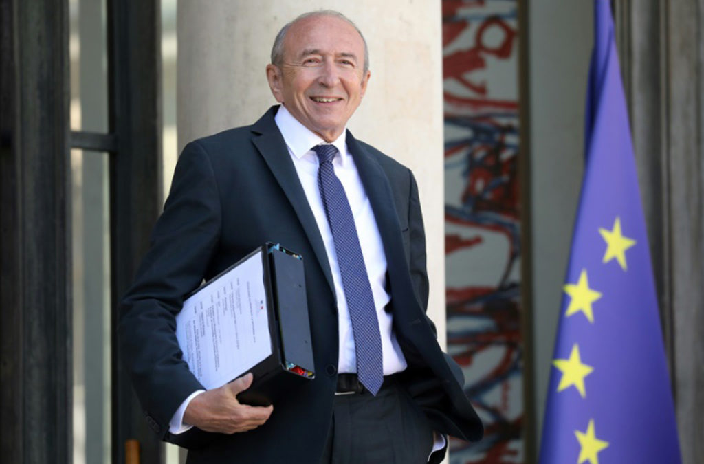وزير الداخلية الفرنسي سيستقيل عام 2019