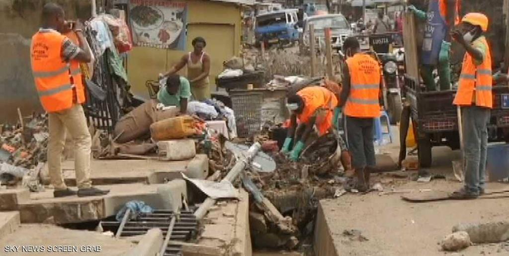 34 قتيلا نتيجة فيضانات في غانا