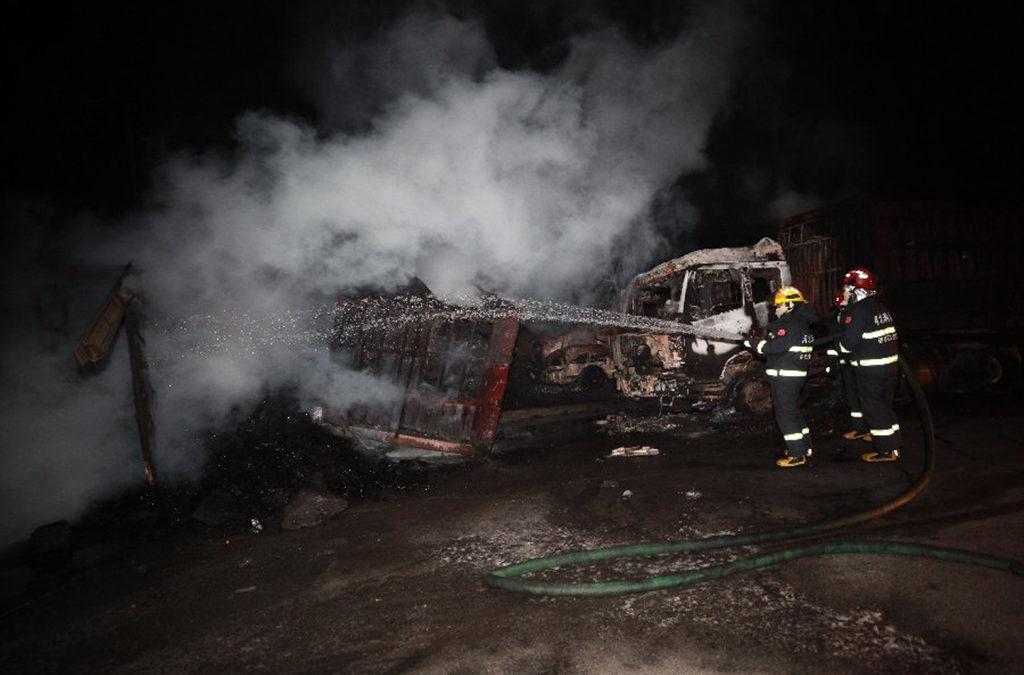 22 قتيلا على الأقل بانفجار قرب مصنع كيميائي في الصين
