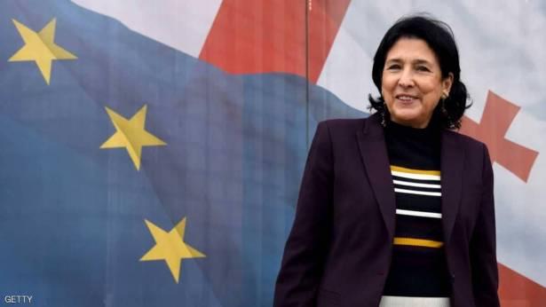 فوز امرأة برئاسة جورجيا للمرة الأولى