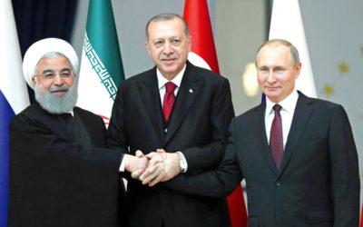 قمة بين بوتين وإردوغان وروحاني في مطلع 2019 حول سوريا