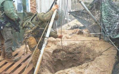 أعمال صب إسمنت للعدو في مكان حفر الانفاق مقابل بوابة فاطمة استمرت حتى الفجر