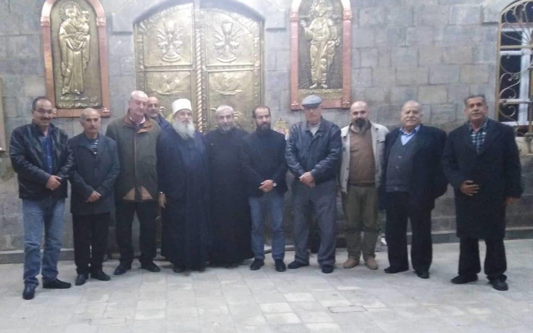 تقبل التعازي بالشهيد ابو دياب في كنيسة الروم الارثوذكس في ريف دمشق