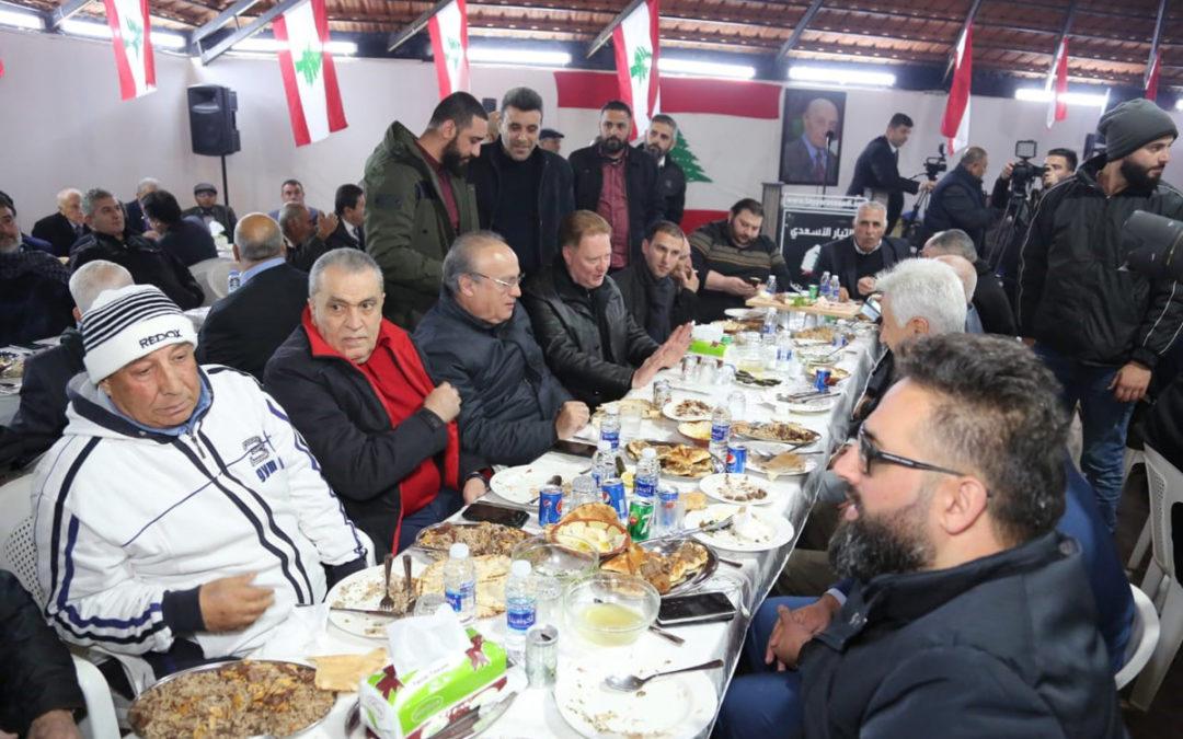 وهاب خلال حفل تكريمي أقامه على شرفه رئيس التيار الأسعدي معن الأسعد