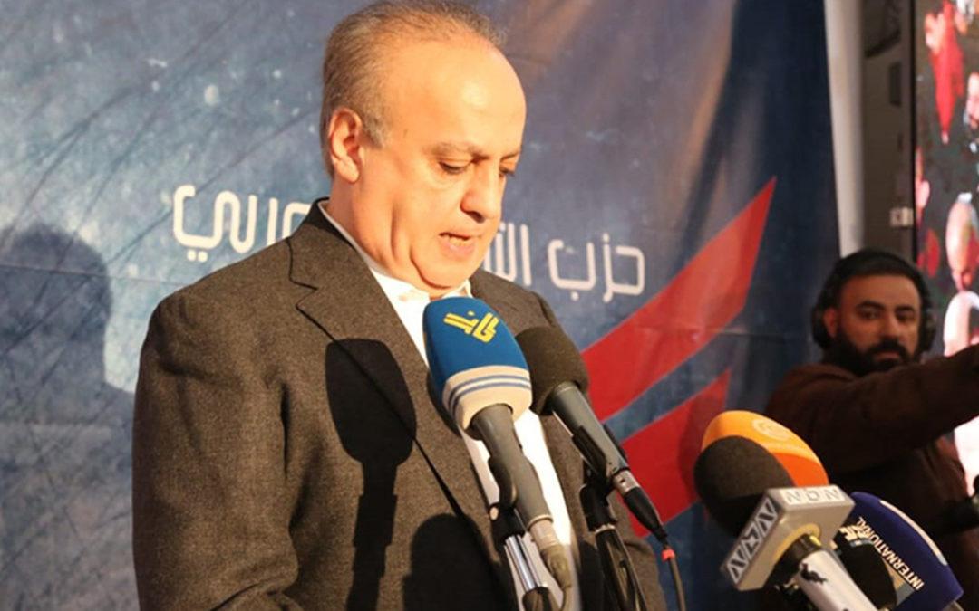 مؤتمر صحافي للوزير وهاب غداً السبت في دارته في الجاهلية