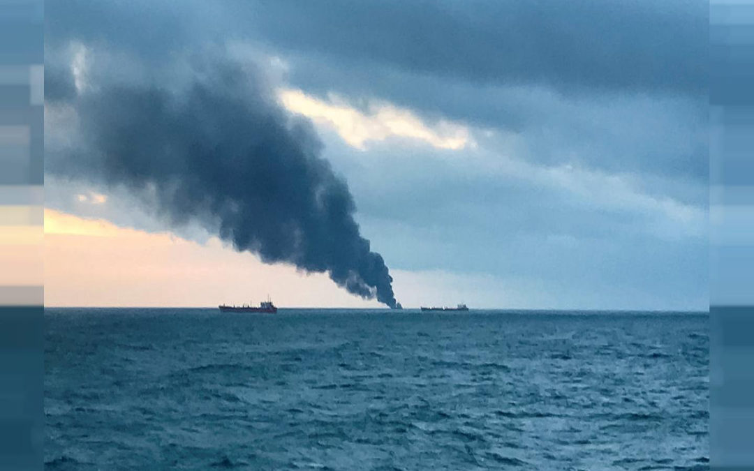 تمدّد بقعة نفطية إلى الساحل الفرنسي بعد غرق سفينة شحن
