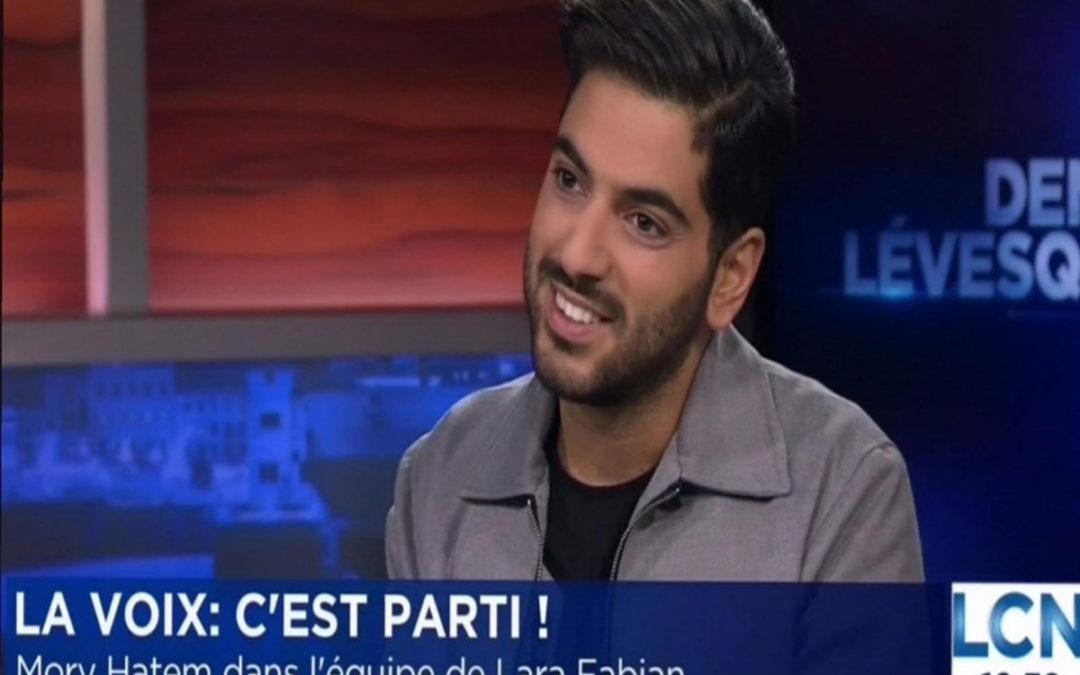 حاتم الى مرحلة المواجهة من برنامج LA VOIX كندا: حلمي رفع اسم بلادي عاليا