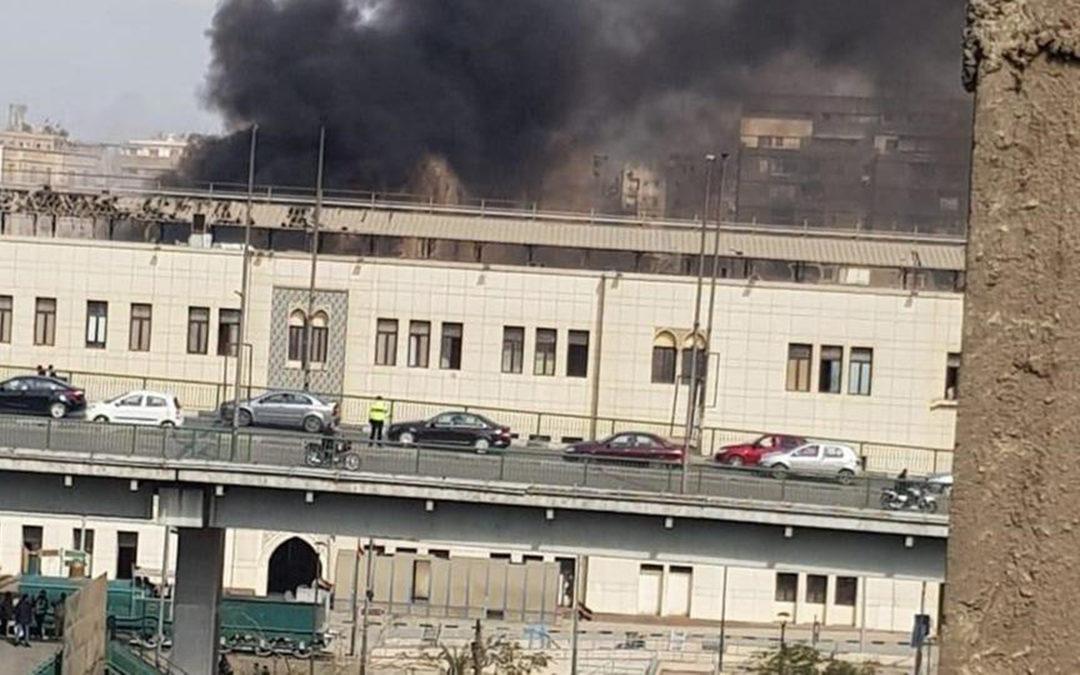 قتلى وجرحى في اصطدام قطار بمحطة رمسيس المصرية