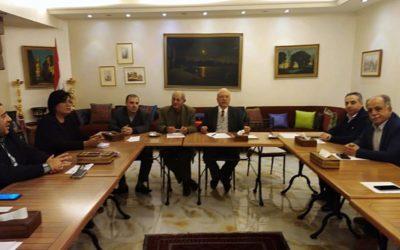 أمين العلاقات السياسية هشام الاعور ممثلا الرئيس وئام وهاب في لقاء التضامن مع فنزويلا البوليفارية
