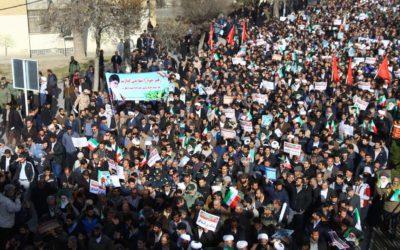 مسيرات حاشدة في مختلف أرجاء إيران في الذكرى الأربعين لانتصار الثورة