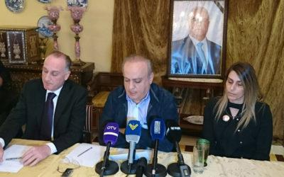 وهاب خلال مؤتمره الصحافي: بعض القضاء العسكري يعمل لدى الإعلام بعد تسريب التحقيقات في ملف أبو ذياب
