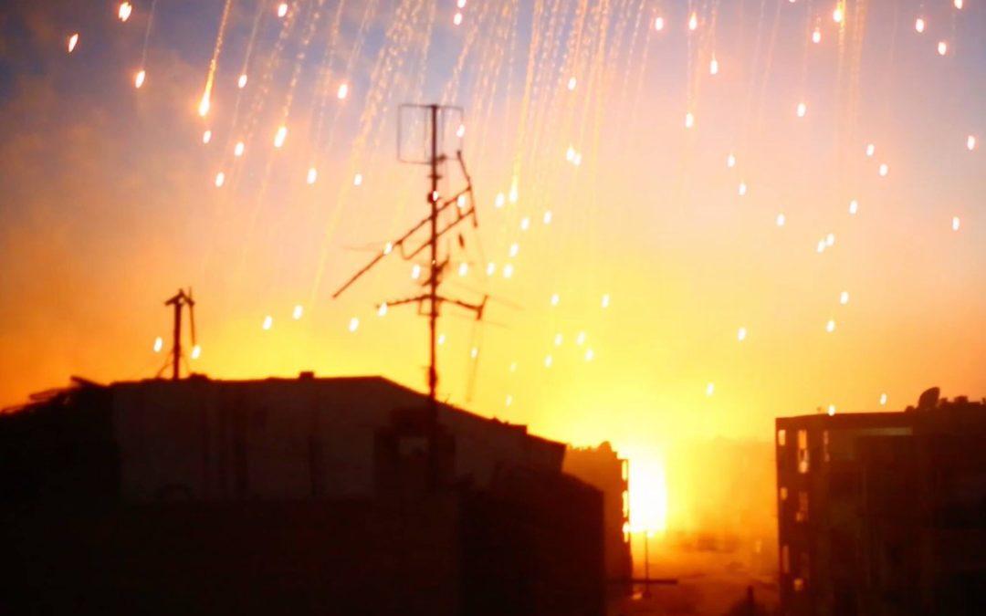 قصف اميركي بقنابل الفوسفور الأبيض على الباغوز بسوريا