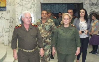 تصل إلى رتبة لواء في سوريا .. كان الرئيس حافظ الاسد ابوها