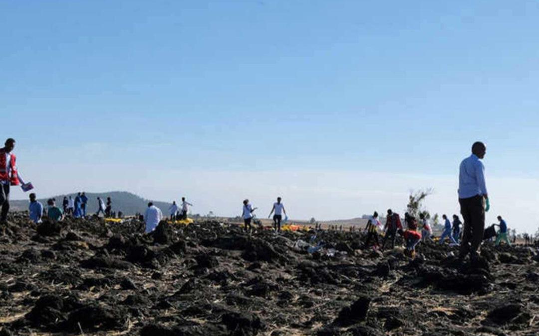العثور على الصندوق الأسود للطائرة الإثيوبية المنكوبة
