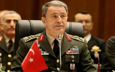وزير الدفاع التركي يجدد دعوته لواشنطن لسحب الأسلحة من الأكراد وإخراجهم من منبج