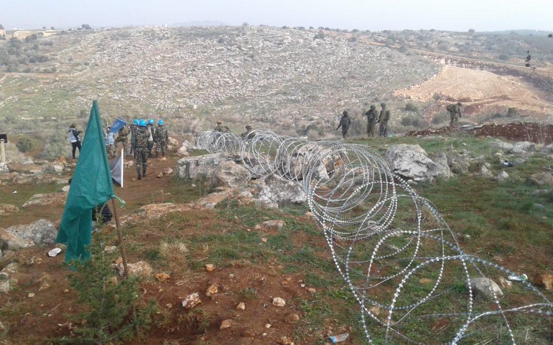 إطلاق نار من جانب الاراضي المحتلة على الحدود مع لبنان