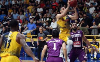 نهائي بطولة لبنان في كرة السلةالرياضي يحسم المواجهة الرابعة ويتقدم
