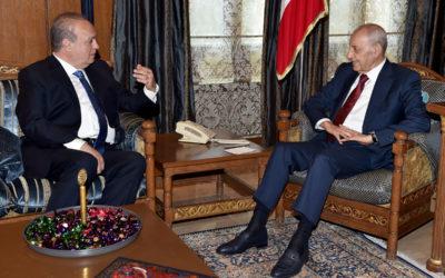 وهاب زار الرئيس برّي وعرض معه الأوضاع على الساحة اللبنانية