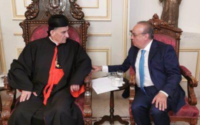 وهاب من بكركي: البطريرك صفير كان رجل حوار ويناقش حتى خصومه في كل المواضيع