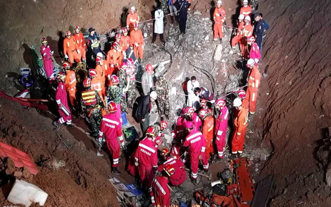 ارتفاع حصيلة ضحايا انزلاق التربة في الصين إلى 20 قتيلا