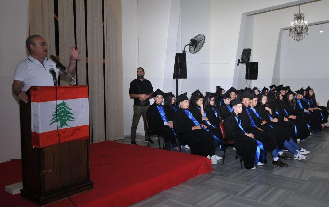 وهاب خلال حفل تخريج للطلاب  الناجحين: القضاء هو المرجع ويجب الالتفاف حول المؤسسة العسكرية والأجهزة الامنية