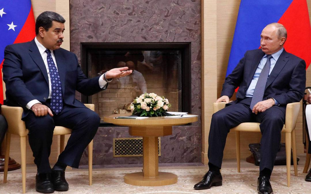 بوتين لمادورو: ندعم السلطات الشرعية في فنزويلا وملتزمون بتعاوننا العسكري