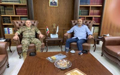 المستشار الخاص للوزير وهاب ياسر الصفدي زار اللواء الركن العرم وجرى بحث في الشؤون العامة