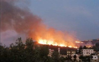 حريق عكار يتمدد… والأهالي يناشدون