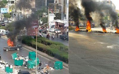 إليكم أبرز الطرقات المقطوعة بسبب إحتجاجات المواطنين
