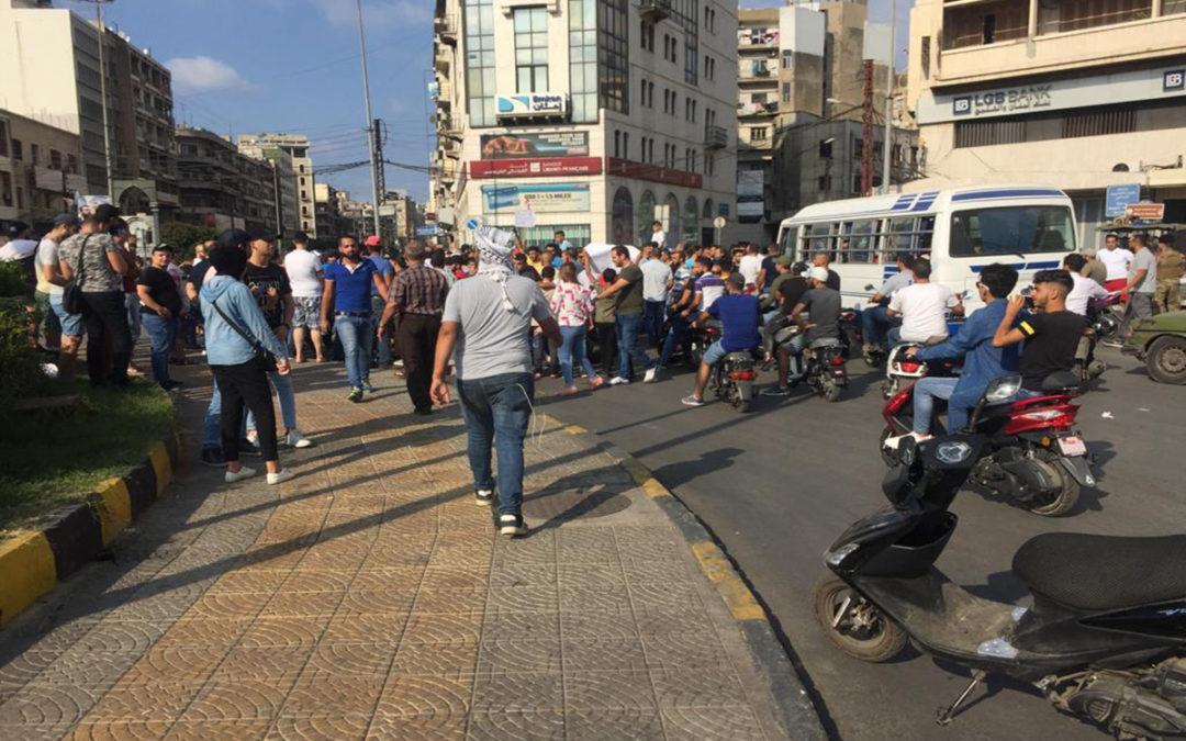 موظفو دائرة التربية في طرابلس توقفوا عن العمل بطلب من المحتجين