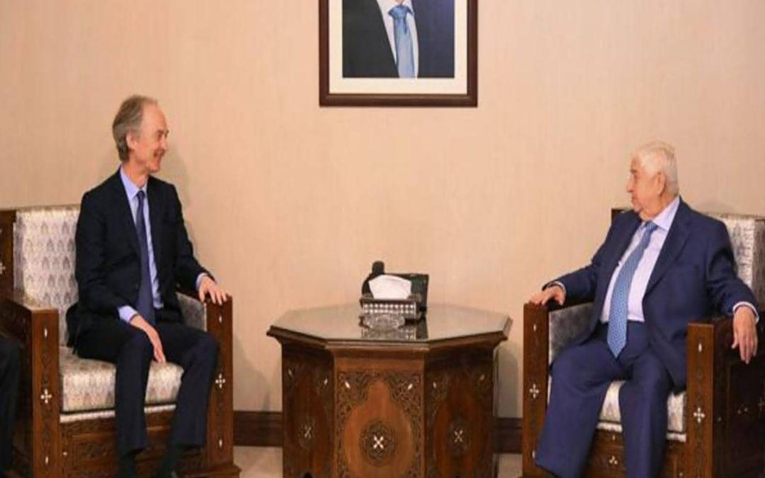 المبعوث الأممي الخاص إلى سوريا يجري محادثات مع وليد المعلم في دمشق