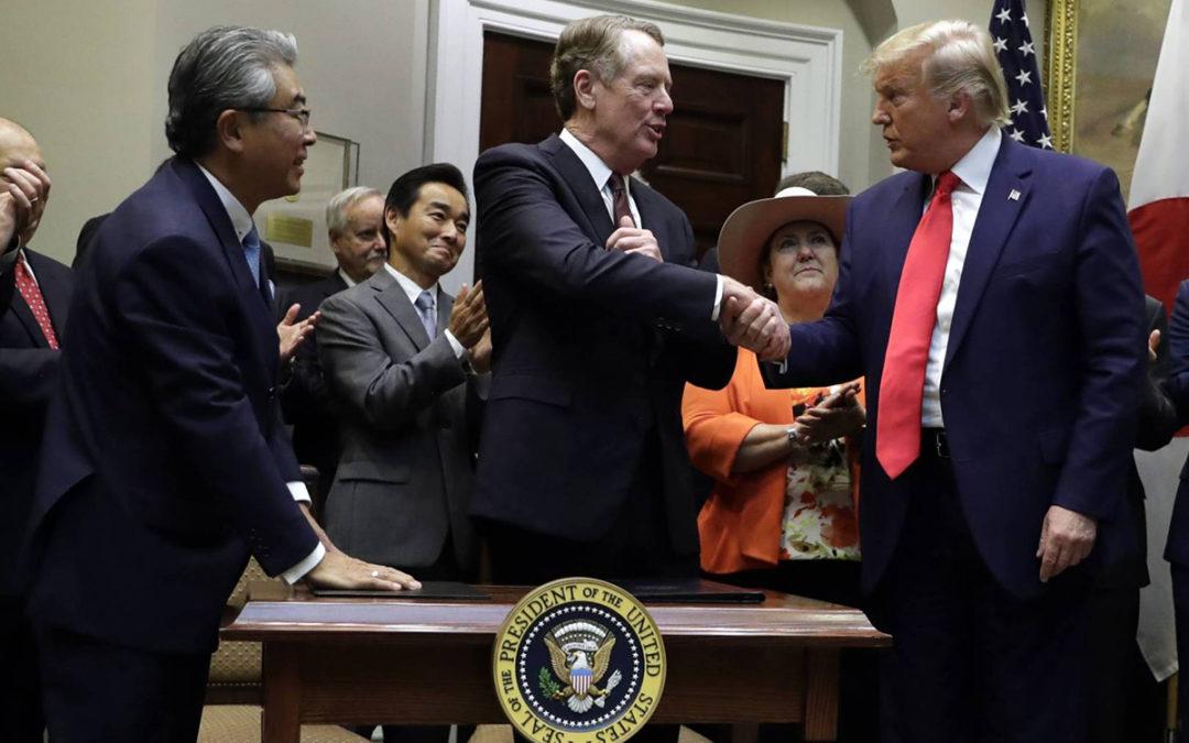 الولايات المتحدة واليابان توقعان اتفاقا تجاريا محدودا