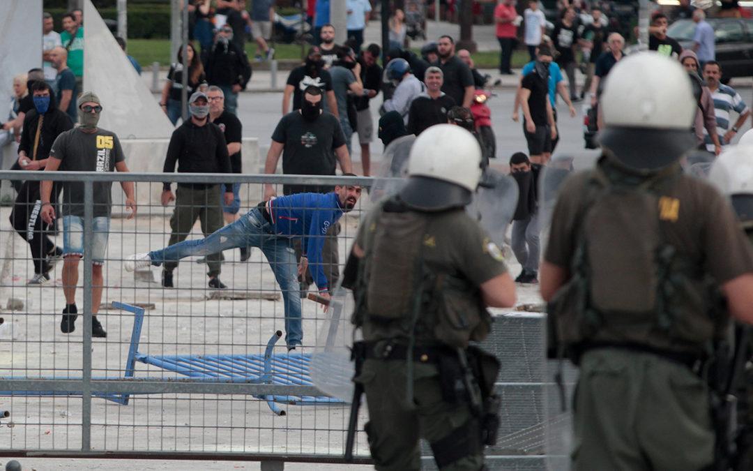 توقيف 28 شخصا بعد أعمال شغب خلال احياء ذكرى الانتفاضة الطلابية في اليونان