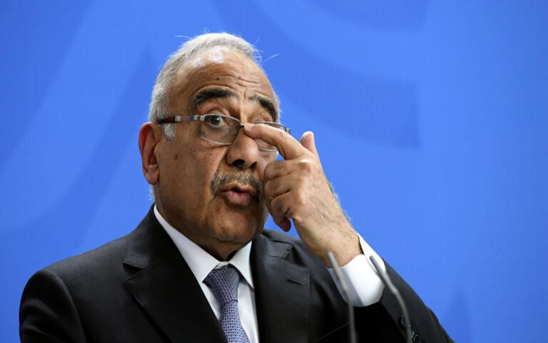عبد المهدي: مطالب المتظاهرين مشروعة لكن البعض يستخدمهم كدرع بشري