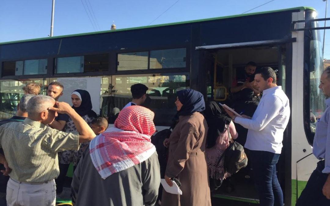 نازحون غادروا إلى سوريا عبر المصنع