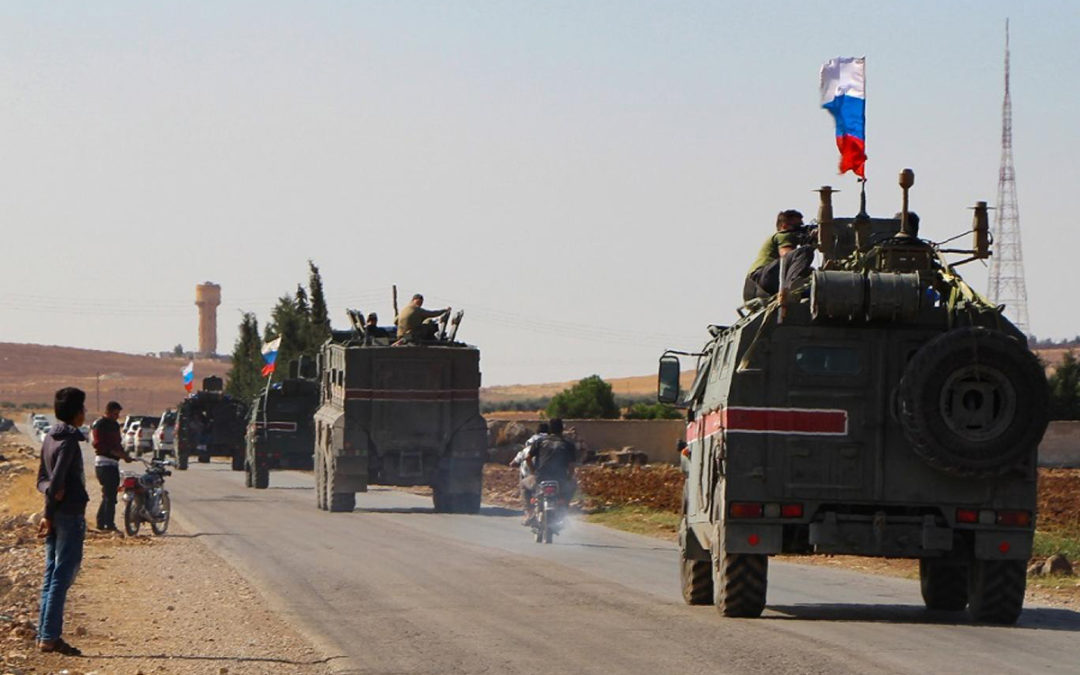 بدء تسيير الدورية الروسية-التركية المشتركة الثانية بريفي الدرباسية وعين العرب شمالي سوريا
