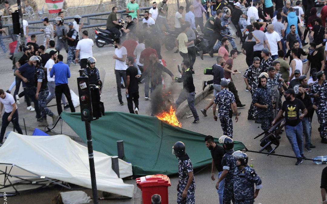 شرطة مجلس النواب نفت قيام عناصرها باحراق خيمة في ساحة الشهداء